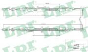 Трос стояночного (ручного) тормоза LPR C0571B