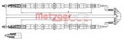 Трос стоянкового (ручного) гальма METZGER 11.5863