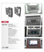 Carav Переходная рамка Carav 11-189 Chrysler 300C, Sebring / Dodge Charger, Caliber, Challenger, Dodge Nitro, Jeep Grand Cherokee, 2DI