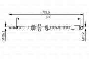 Тормозной шланг BOSCH 1987481546