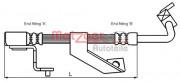 Тормозной шланг METZGER 4116218