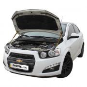 Амортизаторы капота (газовые упоры капота) Euro-Upor EU-CH-AVE-02-2 для Chevrolet Aveo T300 (2011+) 2шт