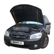 Амортизаторы капота (газовые упоры капота) Euro-Upor EU-KI-CER-01-2 для Kia Cerato 1 (2003-2009) 2шт