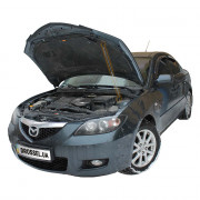 Амортизатор капота (газовый упор капота) Euro-Upor EU-MA-3-01-1 для Mazda 3 BK (2003-2009)