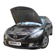Амортизаторы капота (газовые упоры капота) Euro-Upor EU-MA-6-02-2 для Mazda 6 GH (2007-2013) 2шт