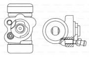 Колесный тормозной цилиндр BOSCH F 026 002 393
