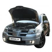 Амортизаторы капота (газовые упоры капота) Euro-Upor EU-MI-OUT-01-2 для Mitsubishi Outlander 1 (2003-2008) 2шт