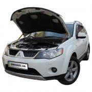 Амортизаторы капота (газовые упоры капота) Euro-Upor EU-MI-OUT-02-2 для Mitsubishi Outlander XL (2005-2010) 2шт