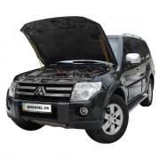Амортизаторы капота (газовые упоры капота) Euro-Upor EU-MI-PWA-04-2 для Mitsubishi Pajero Wagon 4 (2005-2018) 2шт