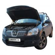 Амортизаторы капота (газовые упоры капота) Euro-Upor EU-NI-QAS-01-2 для Nissan Qashqai J10 (2006-2014) 2шт