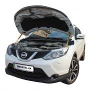 Амортизаторы капота (газовые упоры капота) Euro-Upor EU-NI-QAS-02-2 для Nissan Qashqai J11 (2013+) 2шт