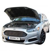 Амортизаторы капота (газовые упоры капота) Euro-Upor EU-FO-FUS-02-2 для Ford Fusion 2 (2012+) 2шт