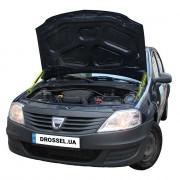 Амортизаторы капота (газовые упоры капота) Euro-Upor EU-RE-LOG-01-2 для Renault Logan (2004-2013) 2шт