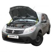 Амортизаторы капота (газовые упоры капота) Euro-Upor EU-RE-SAN-01-2 для Renault Sandero (2008-2012) 2шт
