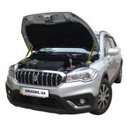 Амортизаторы капота (газовые упоры капота) Euro-Upor EU-SU-SX4-02-2 для Suzuki SX4 (2014+) 2шт