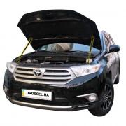 Амортизаторы капота (газовые упоры капота) Euro-Upor EU-TO-HIG-02-2 для Toyota Highlander 2 (2007-2013) 2шт