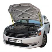 Амортизаторы капота (газовые упоры капота) Euro-Upor EU-VW-PAS-07-2 для Volkswagen Passat B7 (2010-2015) 2шт