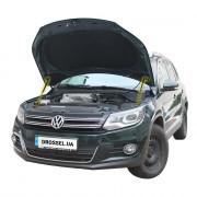 Амортизаторы капота (газовые упоры капота) Euro-Upor EU-VW-TIG-01-2 для Volkswagen Tiguan (2007-2017) 2шт