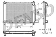 Радиатор охлаждения двигателя DENSO DRM23100