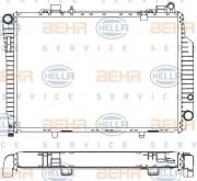 Радиатор охлаждения двигателя HELLA 8MK 376 711-204