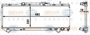 Радиатор охлаждения двигателя HELLA 8MK 376 718-371