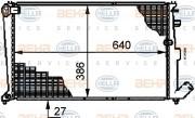 Радиатор охлаждения двигателя HELLA 8MK 376 719-201