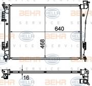 Радиатор охлаждения двигателя HELLA 8MK 376 735-251