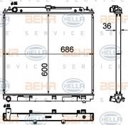 Радиатор охлаждения двигателя HELLA 8MK 376 790-311