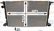 Радиатор охлаждения двигателя HELLA 8MK 376 990-041
