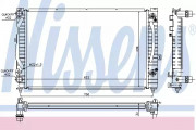 Радиатор охлаждения двигателя NISSENS 60229