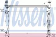 Радиатор охлаждения двигателя NISSENS 60236A