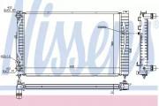 Радиатор охлаждения двигателя NISSENS 60299