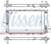 Радиатор охлаждения двигателя NISSENS 60480