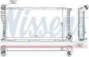 Радиатор охлаждения двигателя NISSENS 60634A