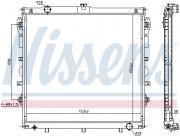 Радиатор охлаждения двигателя NISSENS 606523