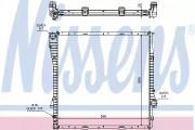 Радиатор охлаждения двигателя NISSENS 60788A