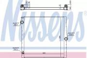 Радиатор охлаждения двигателя NISSENS 60825