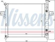 Радиатор охлаждения двигателя NISSENS 61023