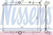 Радиатор охлаждения двигателя NISSENS 61291A
