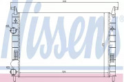 Радиатор охлаждения двигателя NISSENS 61683