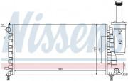 Радиатор охлаждения двигателя NISSENS 61888