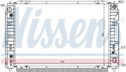 Радиатор охлаждения двигателя NISSENS 62004