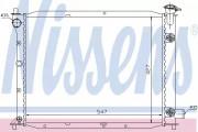 Радиатор охлаждения двигателя NISSENS 62016