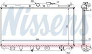 Радиатор охлаждения двигателя NISSENS 62279A