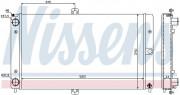 Радиатор охлаждения двигателя NISSENS 623552