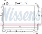 Радиатор охлаждения двигателя NISSENS 62381
