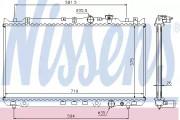 Радиатор охлаждения двигателя NISSENS 62482A