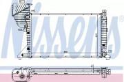 Радиатор охлаждения двигателя NISSENS 62519A