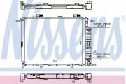 Радиатор охлаждения двигателя NISSENS 62691A