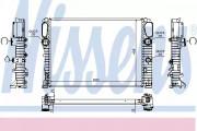 Радиатор охлаждения двигателя NISSENS 62797A